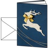 Weihnachtskarte Santas Reindeer SIGEL