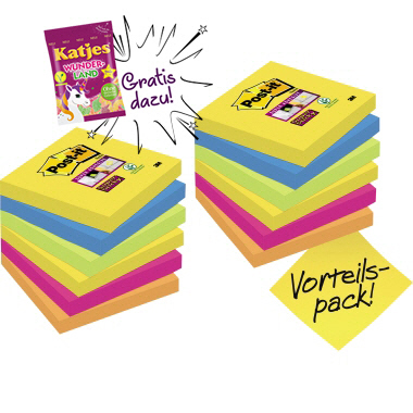 Post-it® Haftnotiz Promotion + Katjes Wunderland GRATIS