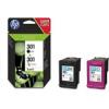 HP Tintenpatrone  301 schwarz, cyan/magenta/gelb
