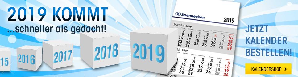 Prospekt für Kalender 2019 gültig bis 31.12.2018